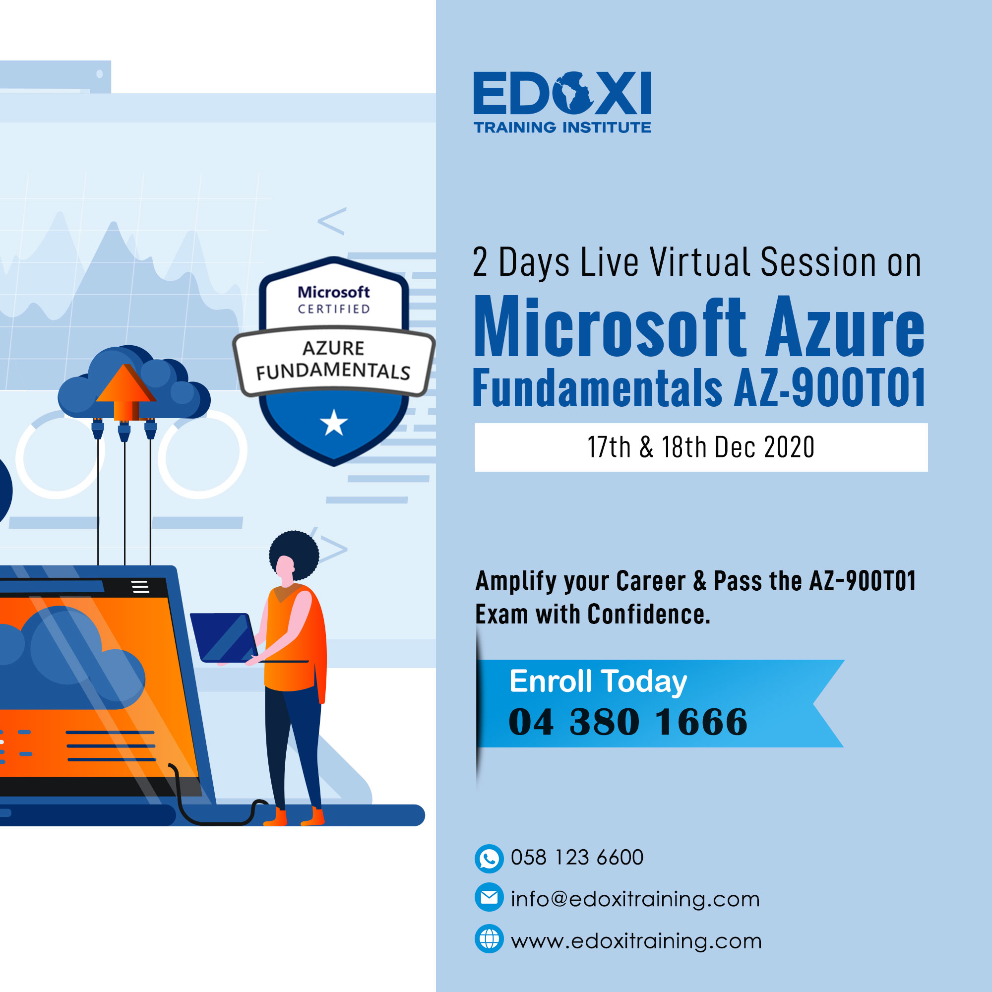 2 Days Live Virtual Session on Microsoft Azure Fundamentals AZ-900T01