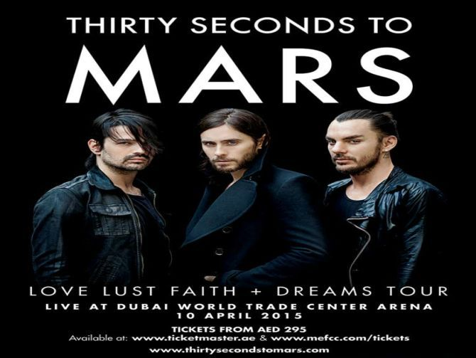 Thirty Seconds to Mars Live in Dubai- Thirty Seconds to Mars is coming to Dubai for their first-ever performance.