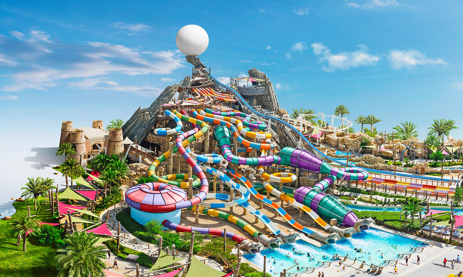 Yas waterworld earns guinness world records title for - Swimming pool construction jobs dubai ...