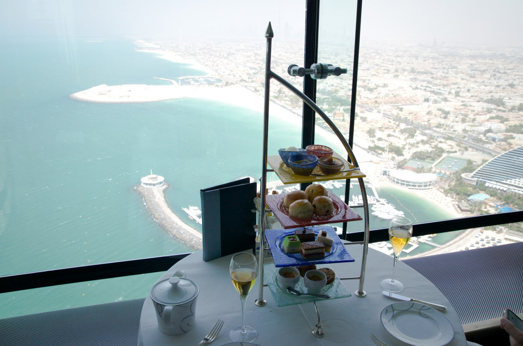 Afternoon tea at the burj dayofdubai for Burj al arab reservation