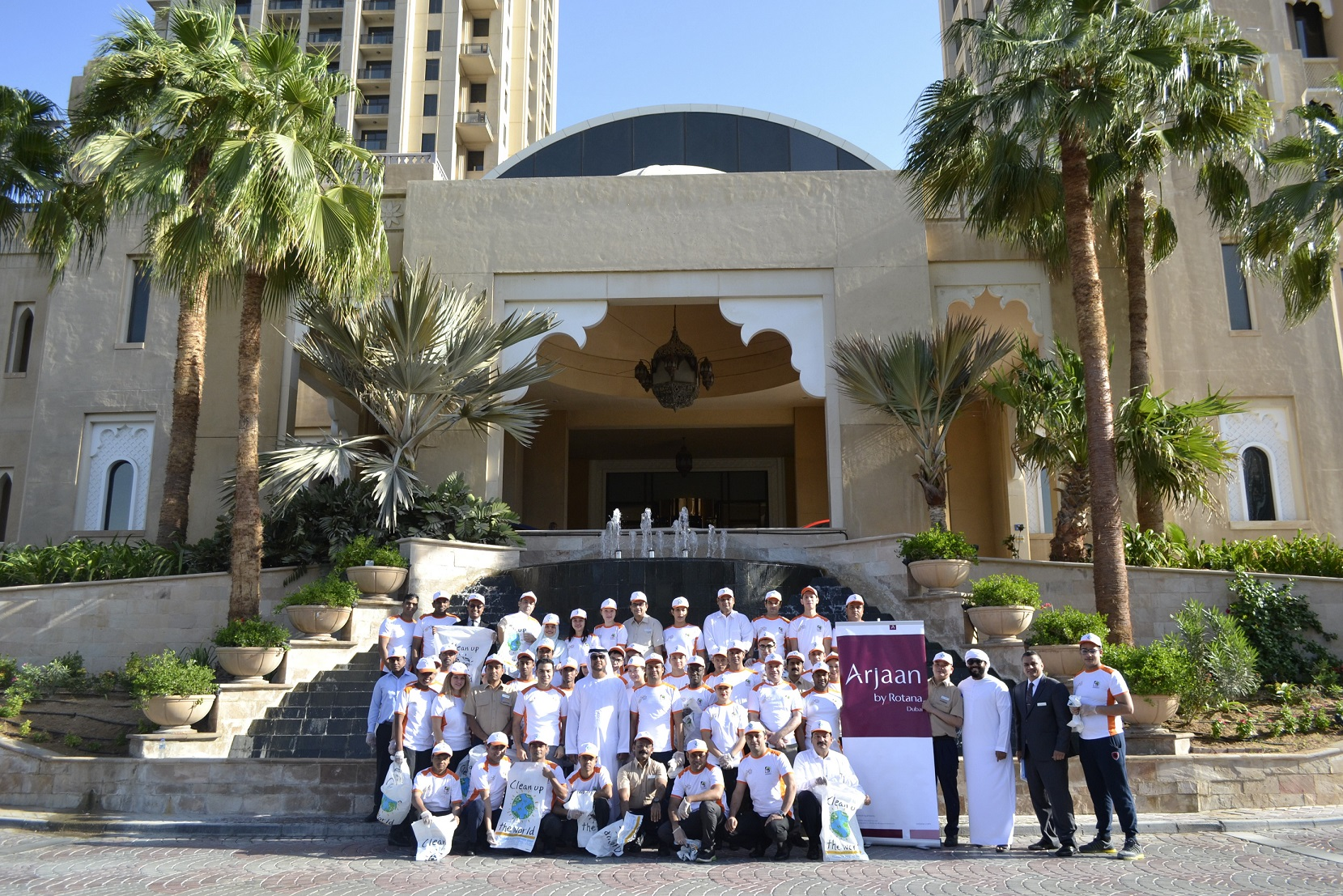 Arjaan by Rotana Joined Forces for the 'Clean Up the World' Campaign