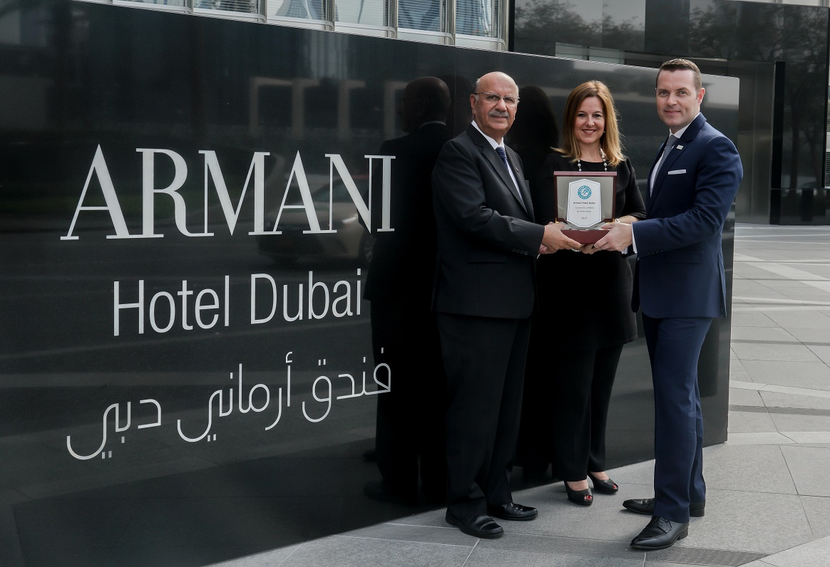 Armani Hotel Dubai Wins 'Green Globe' Certification for Sustainability Best Practices