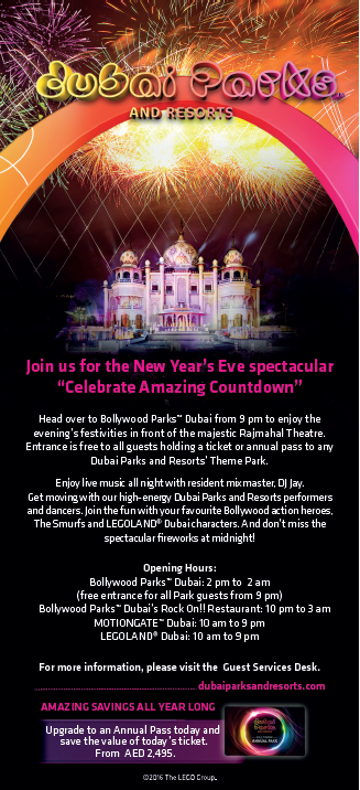 Dubai Parks and Resorts Announces Spectacular New Year'S Eve Celebration and Countdown