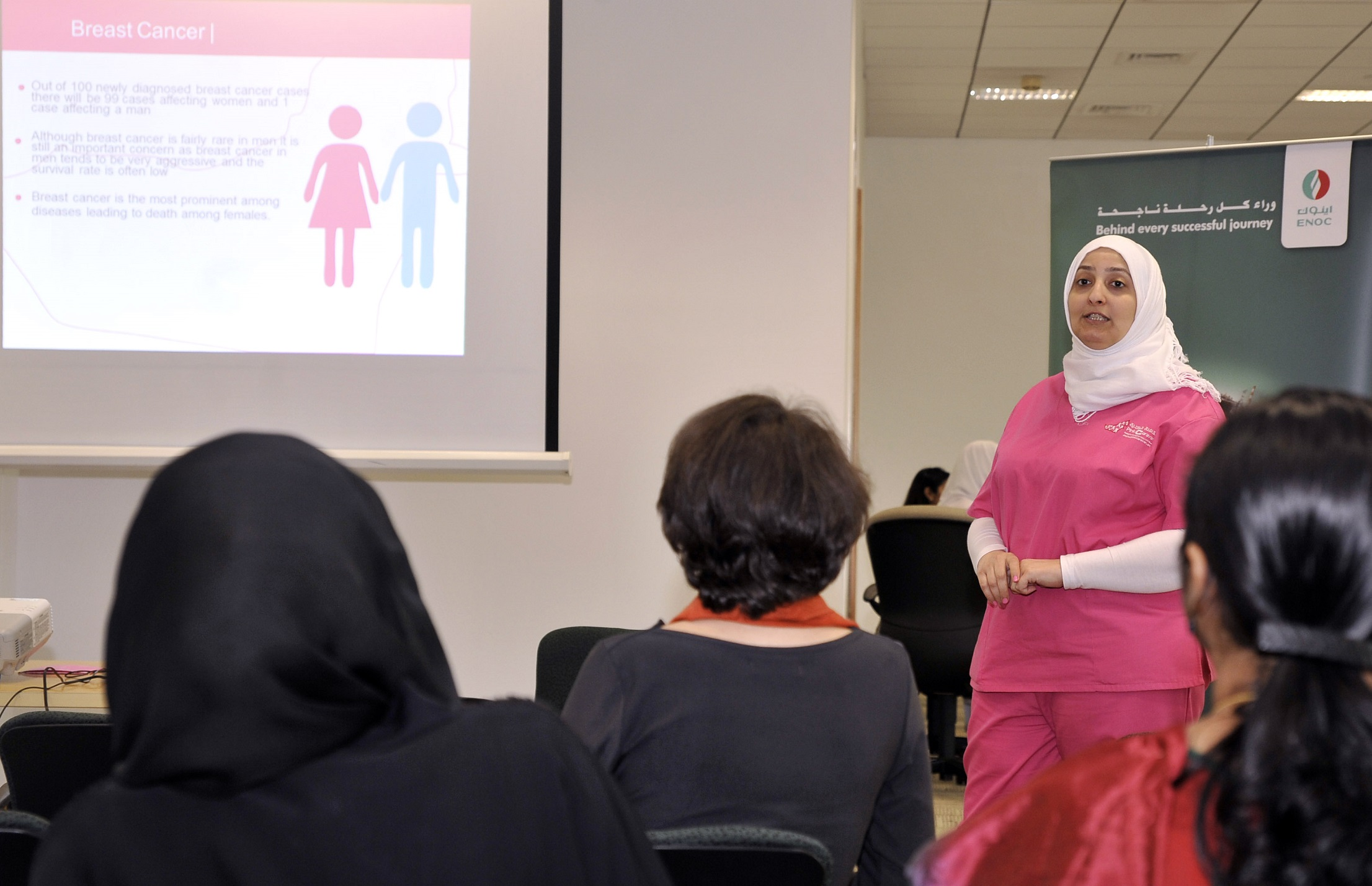 ENOC hosts breast cancer awareness day in partnership with Pink Caravan