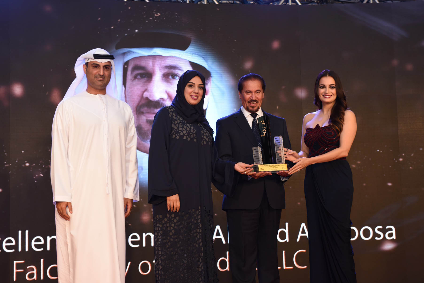 Falconcity of Wonders Chairman and General Manager H.E. Salem Almoosa Receives 'Visionary Award' from Dubai Land Department