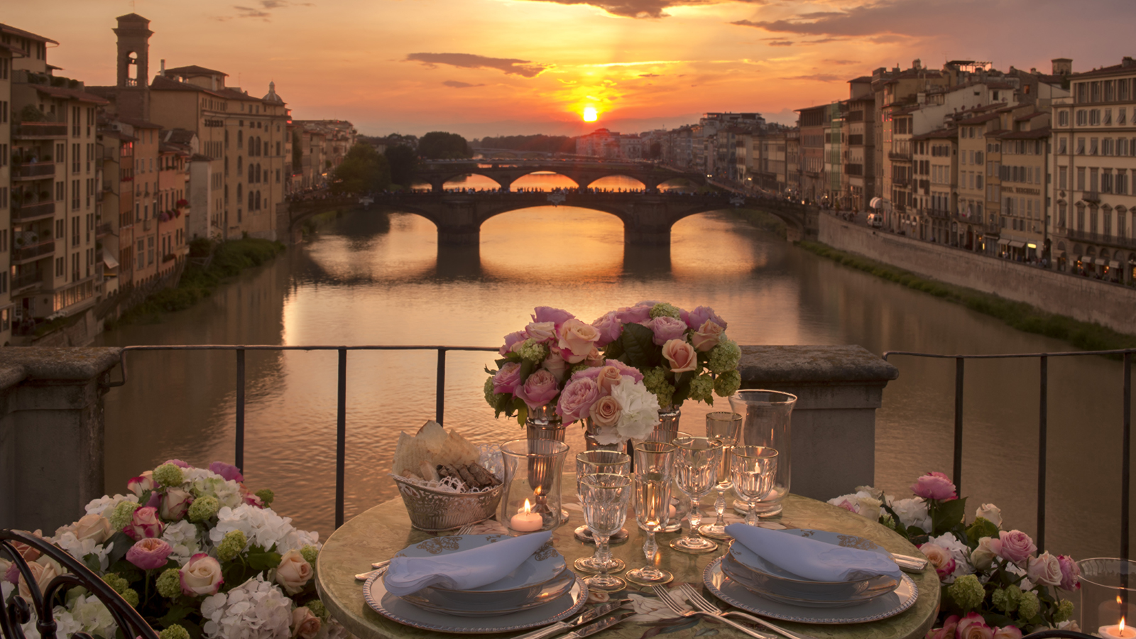 Four seasons hotel firenze presents a unique dining experience on the one and only open terrace of ponte vecchio