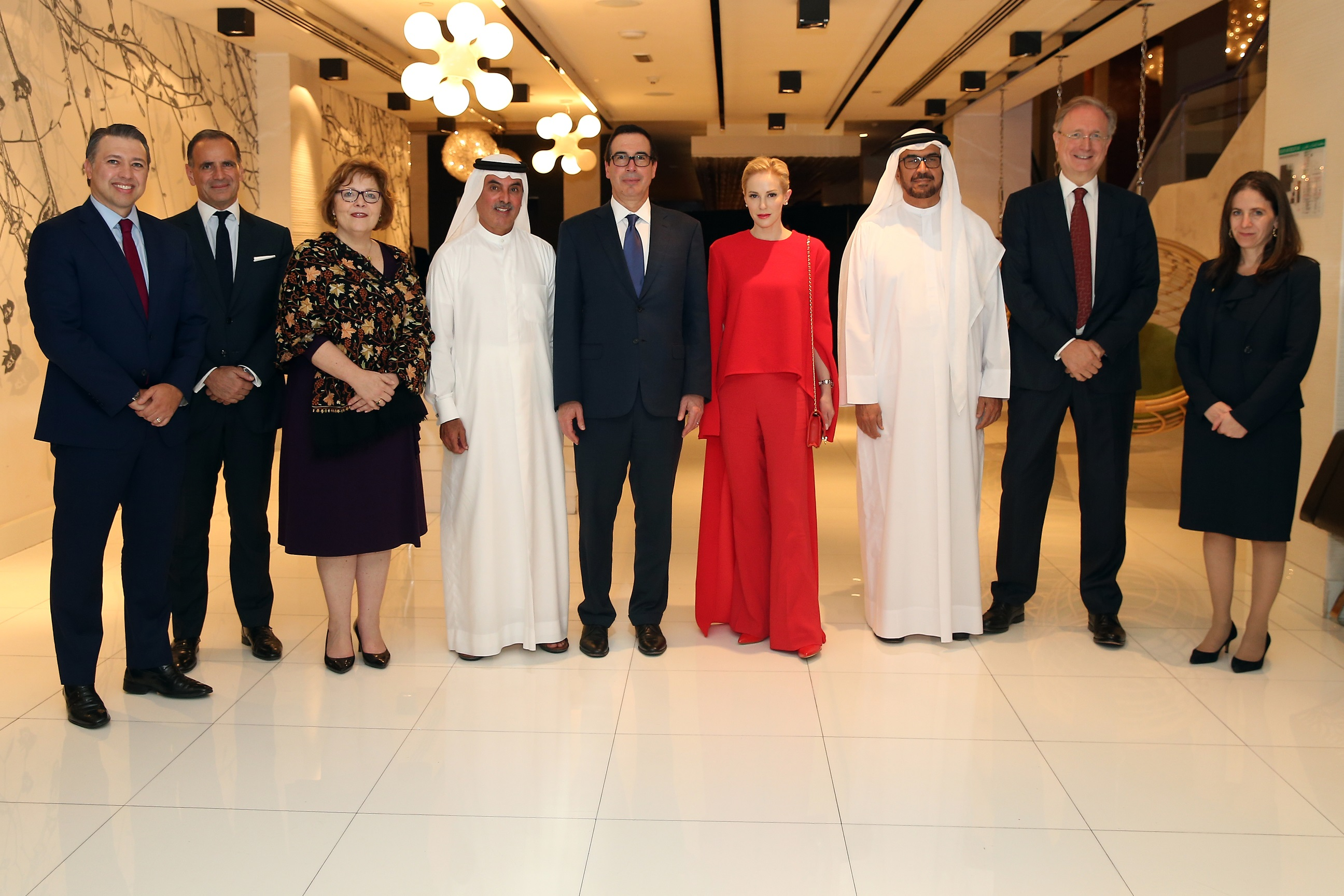 H.E AbdulAziz Al Ghurair Hosts U.S. Treasury Secretary in Abu  Dhabi
