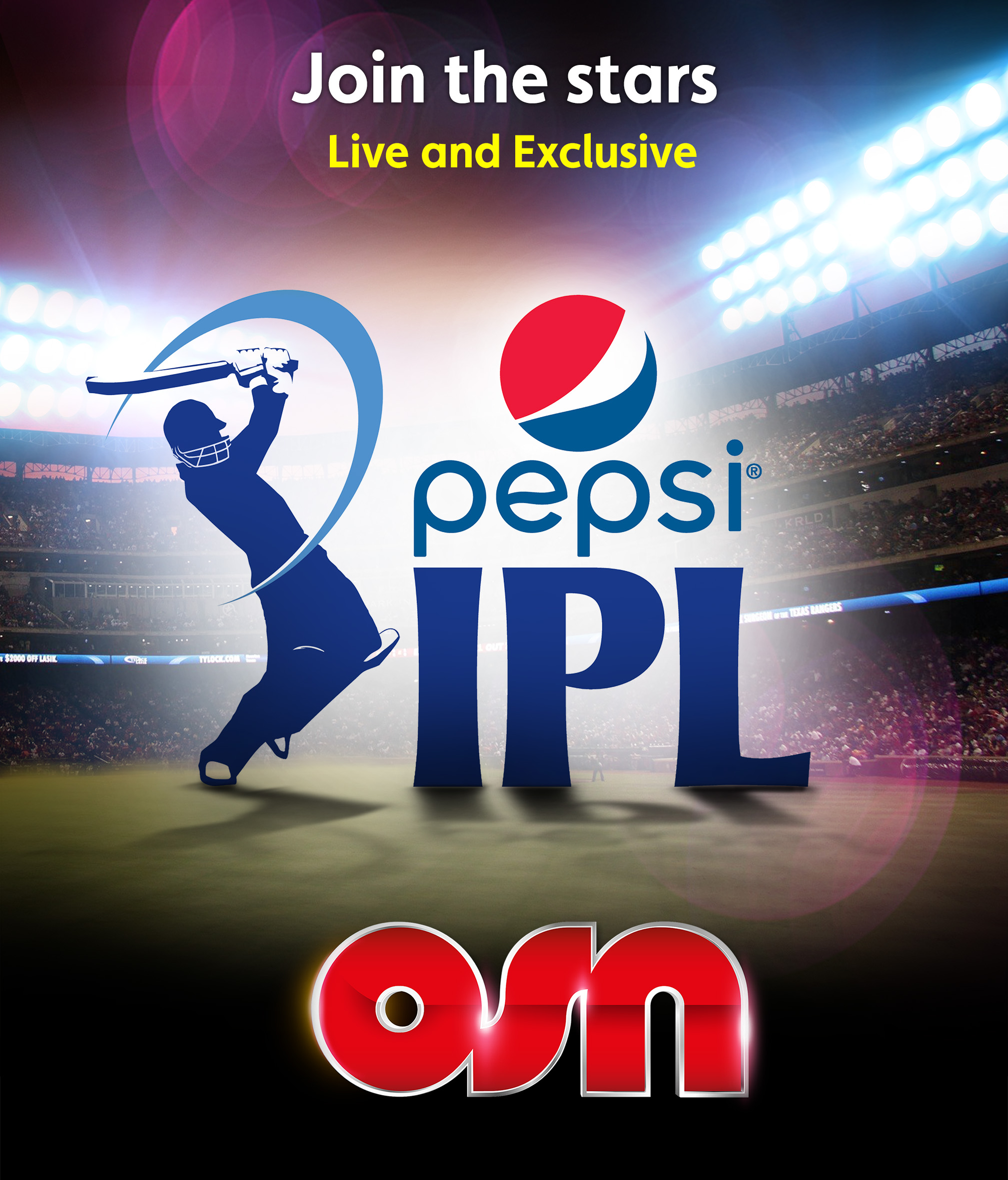 Non-stop cricket on OSN with exclusive broadcast of Indian Premier League matches from April 8