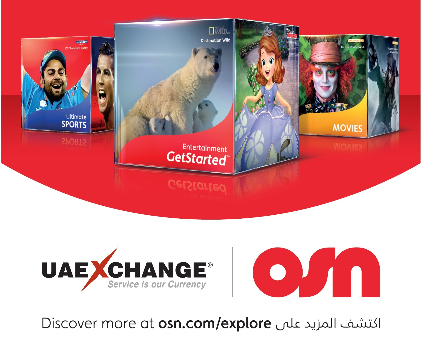 OSN Subscribers can now Make Payments at UAE Exchange