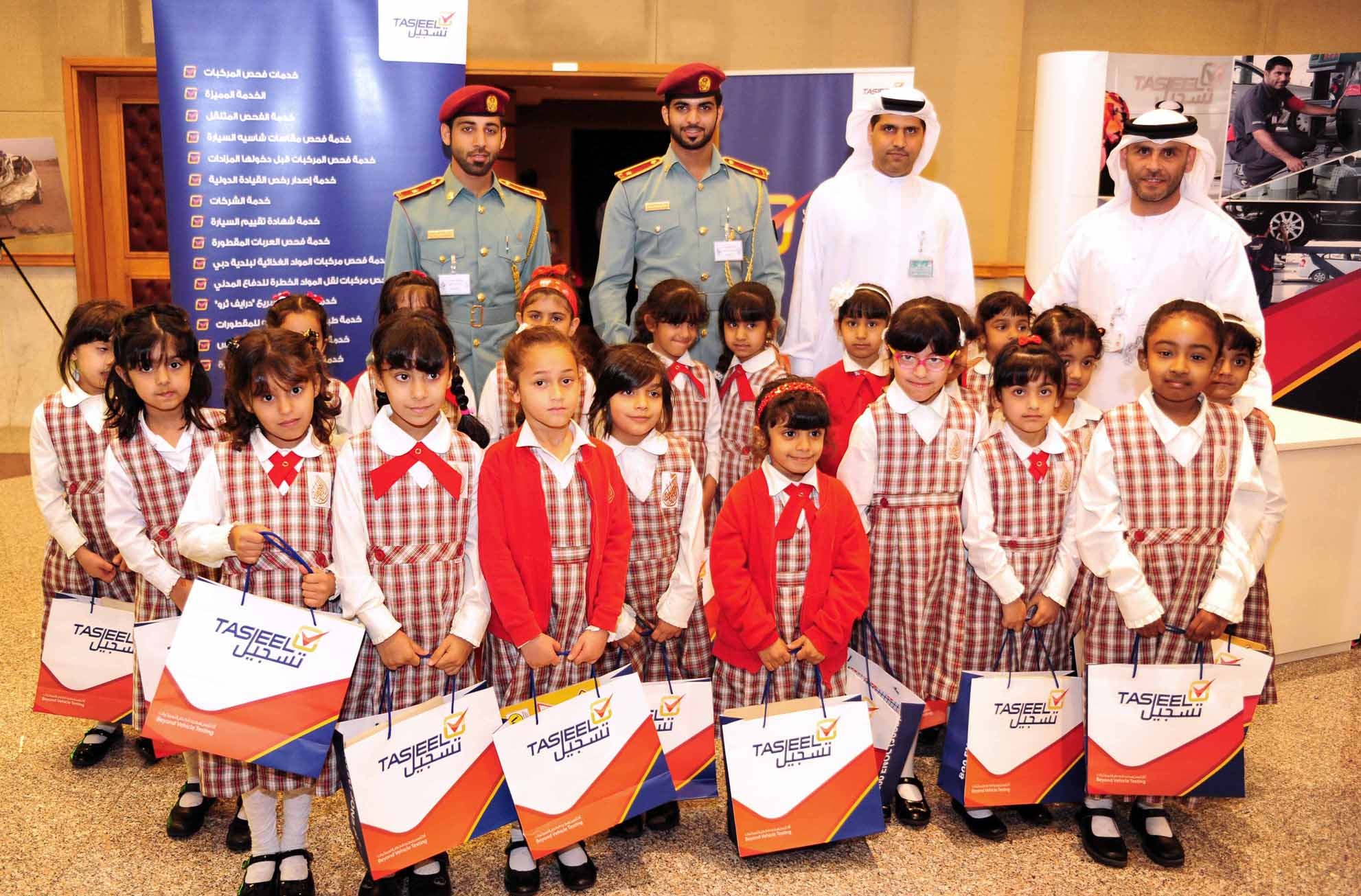 Tasjeel promotes motor vehicle safety and safe driving with support to Sharjah Traffic Week