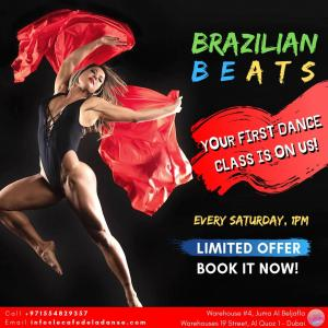 Register for a FREE Brazilian Beats Class today!