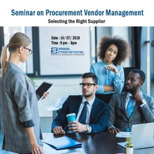 Free Seminar on Procurement Vendor Management -Selecting the Right Supplier