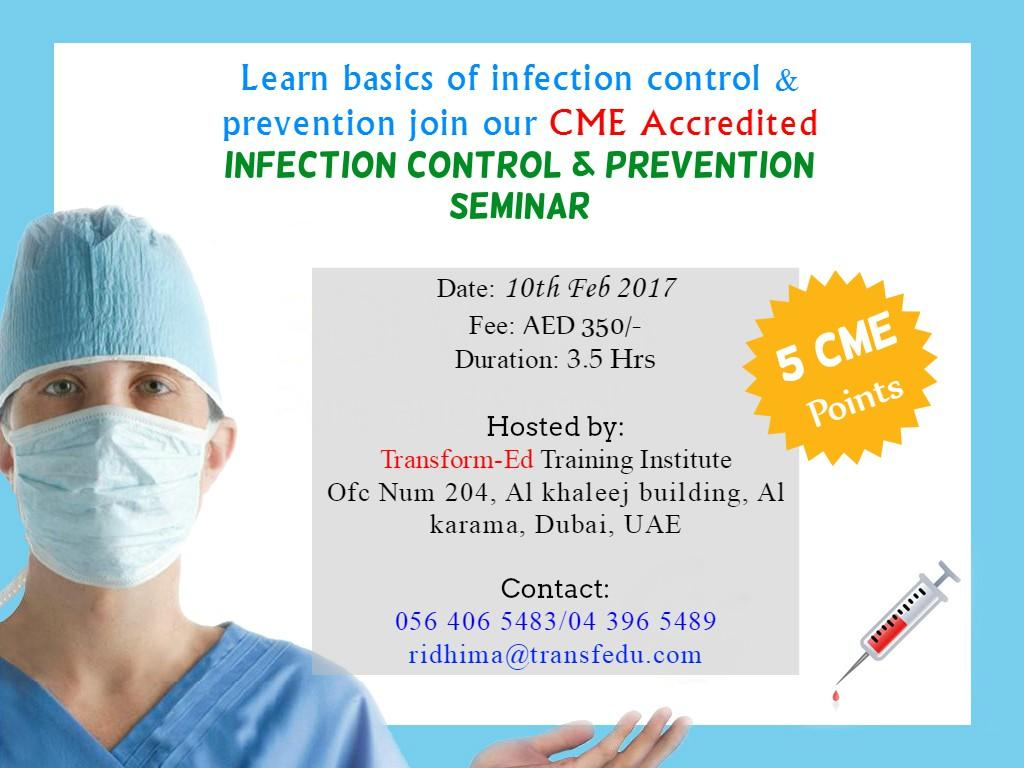 Infection Control Seminar with 5 CME Points | Day of Dubai