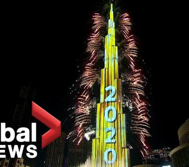 Embedded thumbnail for New Year's 2020: Dubai puts on stunning fireworks show at world's tallest building