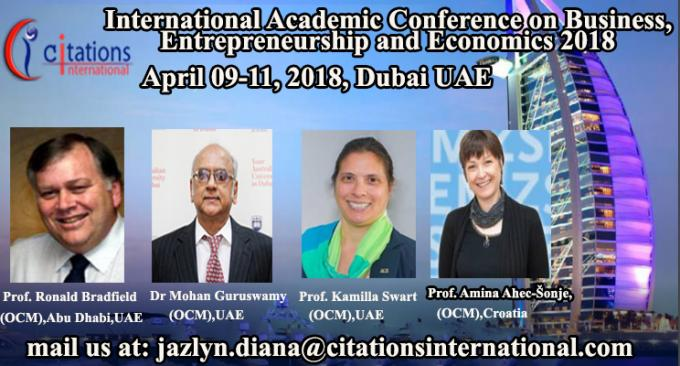 Business Conference 2018 | Academic Global Business Conferences |Dubai 2018