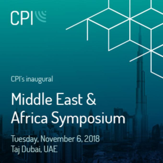 CPI Middle East and Africa Symposium | November 5-6, 2018