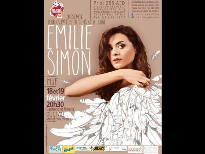Emilie Simon Live in Dubai- French popstar Emilie Simon to perform in Dubai for the first time.
