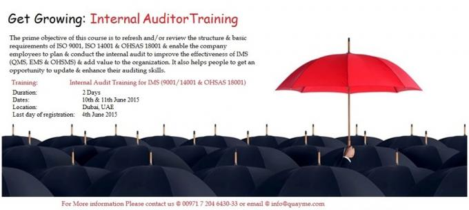 IMS Internal Auditor Training Course