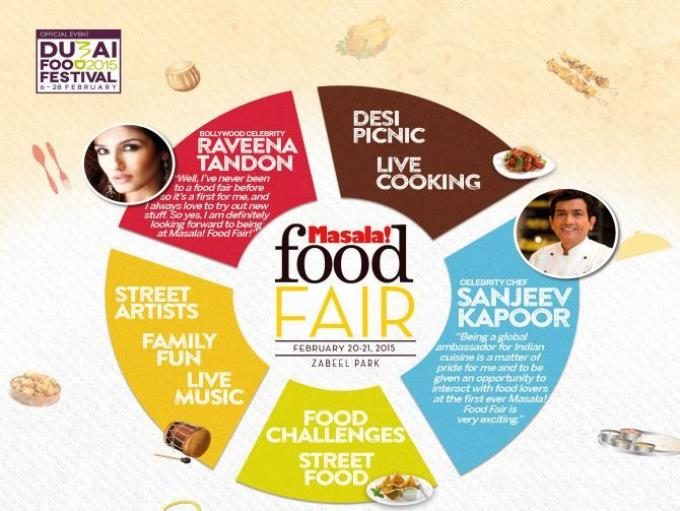 Masala! Food Fair - The first ever Masala! Food Fair will be hosted by Sanjeev Kapoor and Raveena Tandon.