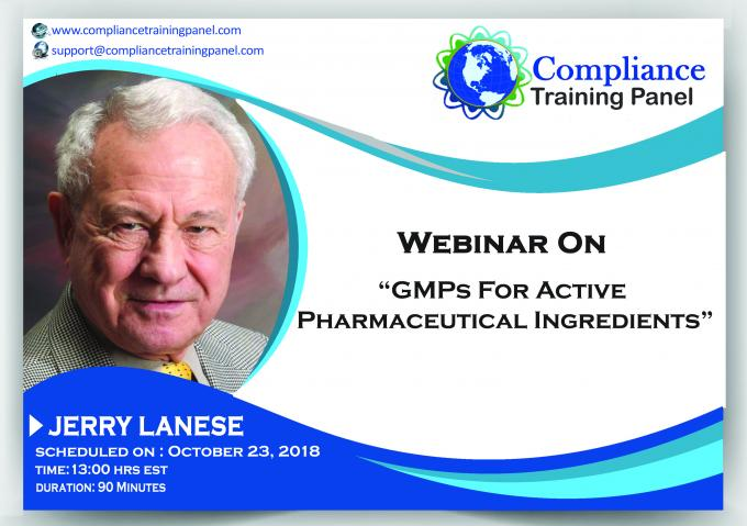 "Webinar On ""GMPs for Active Pharmaceutical Ingredients"""
