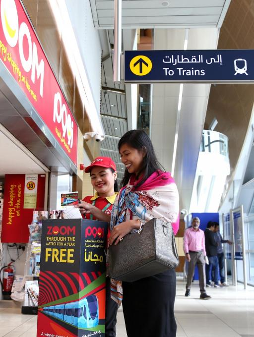 ENOC's ZOOM Gives Away Free Metro Rides for a Year