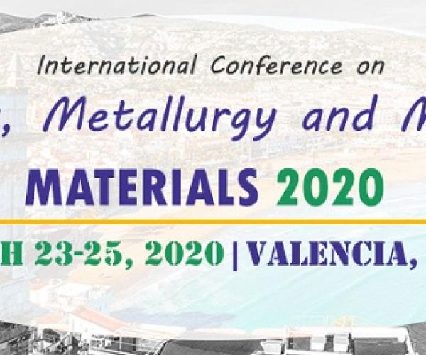Magnus Group is honored to invite you to attend Minerals, Metallurgy and Material Science Conference in Valencia, Spain during March 23-25, 2020.