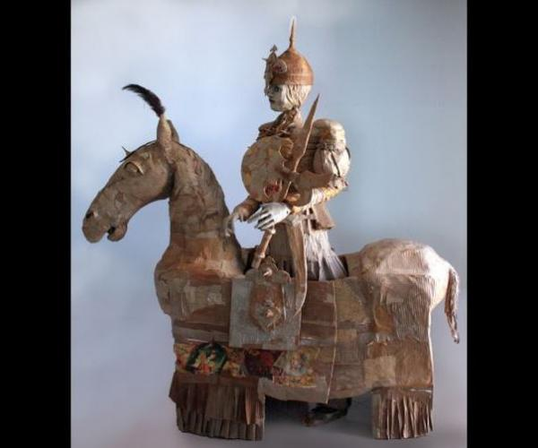 The Act of Gordafarid - The Female Warrior, Paper Sculptures