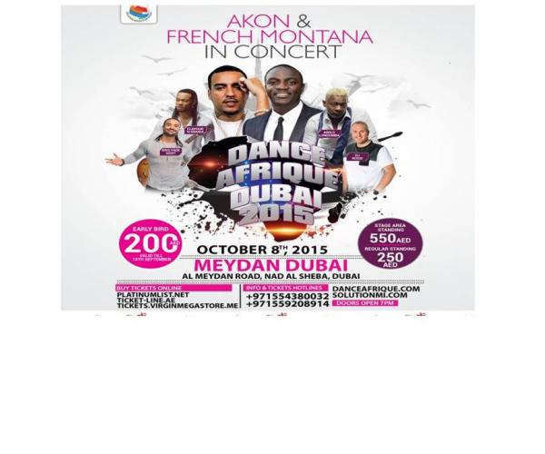 Dance Afrique Dubai 2015- Akon and French Montana to perform in Meydan.