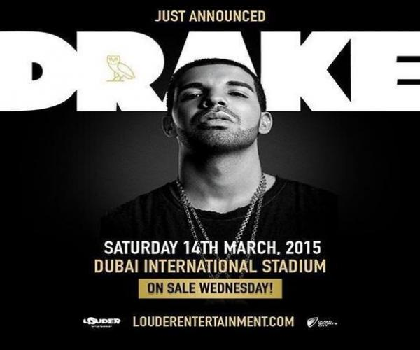 Drake Live in Dubai-Chart topping hip hop superstar Drake is coming to Dubai for his first-ever show in the region.