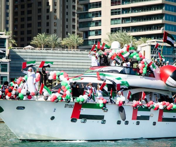 Dubai Marina Yacht Club's second annual UAE National Day Boat Parade