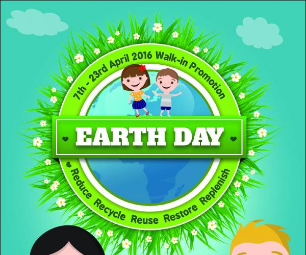 Earth Day Walk in Daily Promotion - Funky Monkeys Playland