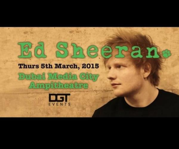 Ed Sheeran Live in Dubai- The British singing sensation comes to Dubai this March as part of his second album X