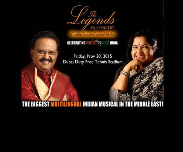 S.P Balasubramanium and K.S Chitra to perform in Dubai  .