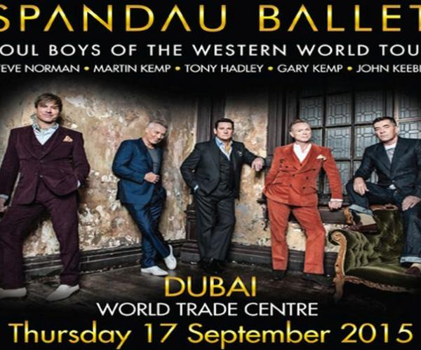Spandau Ballet Live in Concert-Catch British band Spandau Ballet performing in Dubai in Dubai Trade Centre this September