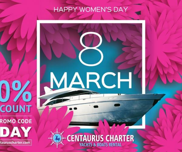 Womens Day Offers on Yacht Rentals in Dubai