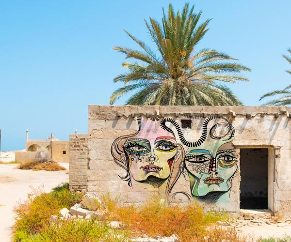 An example of street art commissioned by Expo 2020 Dubai that could be showcased in a public space in Ras Al Khaimah.