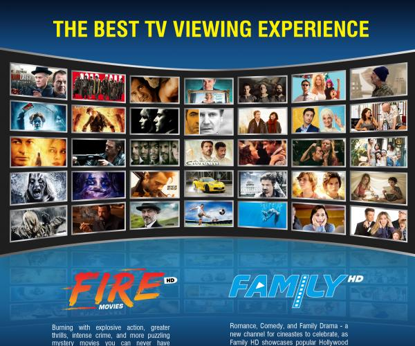 Dubai News: Introducing Fire HD and Family HD Movies: Two New Movie Channels in the Region