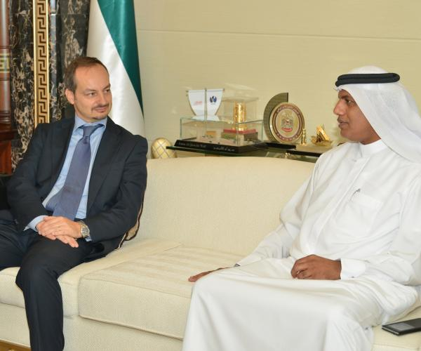Ahmed Mahboob holds meeting with Consul General of Italy in Dubai