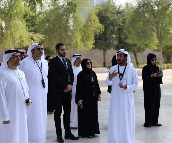 Delegation from Ministry of State for Federal National Council Affairs Visits Founder Sheikh Zayed's Memorial