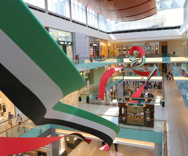 The Dubai Mall Celebrates UAE Flag Day with 'Floating Colours',  a 180-metre-long art Installation Spanning Three Levels