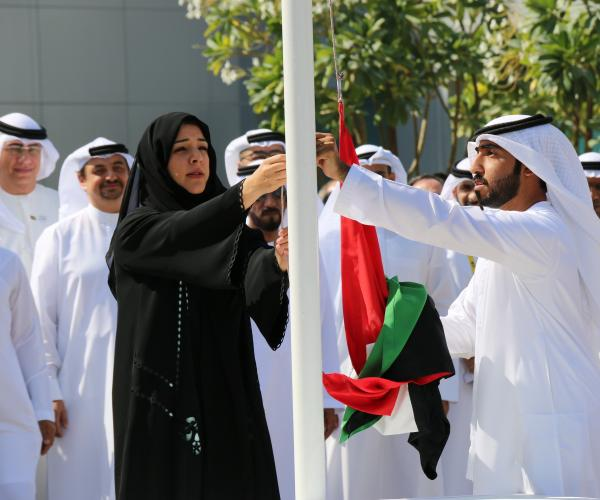 Expo 2020 Dubai Marks UAE Flag Day with Ceremony at Rapidly Changing Site
