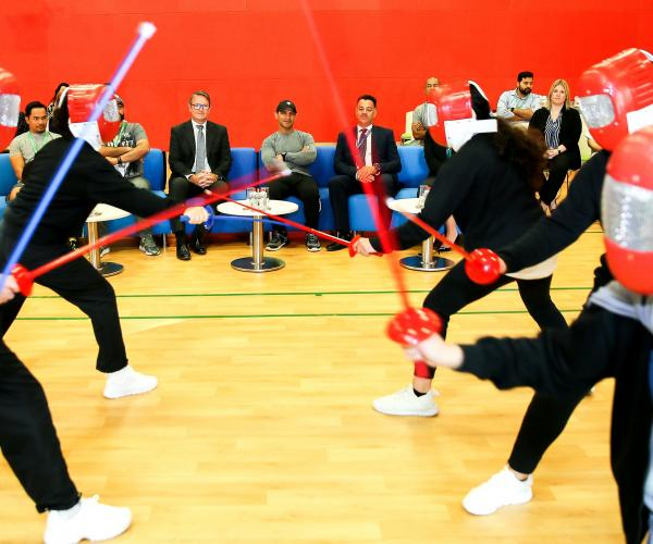 GEMS Al Barsha National School for Girls Hosts KHDA for Fencing Duel as Part of Dubai Fitness Challenge