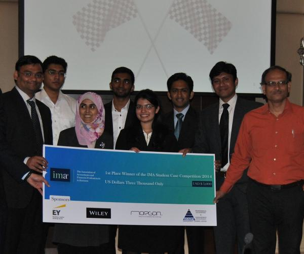IMT Dubai named as winners of the IMA Middle East Student Case Competition 2014