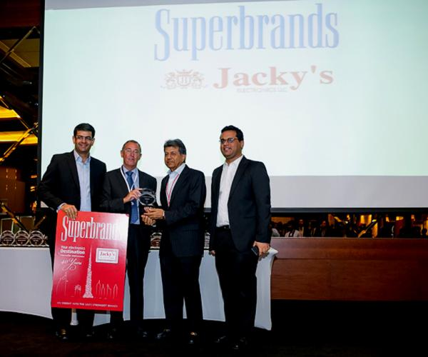 Jacky's Electronics awarded Superbrand status for 9 consecutive years