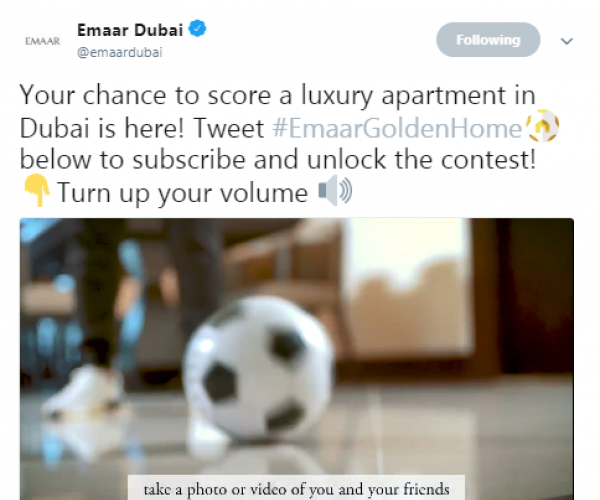 Join Alessandro Del Piero and Emaar on Twitter to Celebrate the Football Fever and win a Dream #EmaarGoldenHome in Dubai