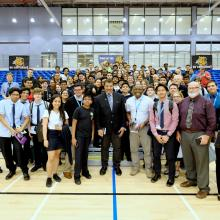 Astrophysicist Neil deGrasse Tyson Addresses GEMS Dubai American Academy Students