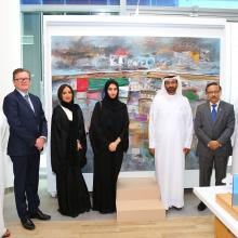 Emirates NBD Unveils Painting Dedicated to Year of Zayed at new Dubai Design District Branch