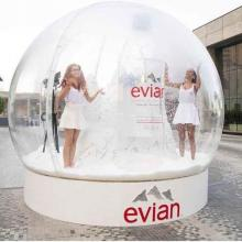 evian brings the French Alps in a Giant Snow Globe to Dubai