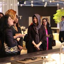 Her Highness Sheikha Latifa bint Mohammed visits Downtown Design