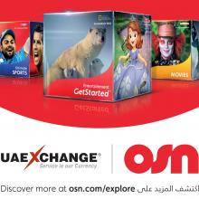 OSN Subscribers can now Make Payments at UAE Exchange Outlets Across all Emirates